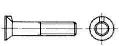 付図2504b 皿ボルト(キー付きの例)