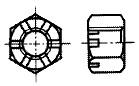 付図2625(1) 溝付き六角ナット