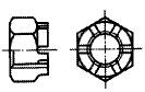 付図2625(2) 溝付き六角ナット(キャッスルナット)