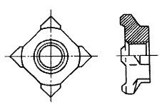 付図2628(2) 溶接ナット(四角溶接ナット)