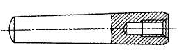 付図2810a ねじ付きテーパピン(めねじ付きの例)